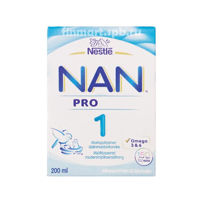 Детское питание Nestle NAN 1 Pro (НАН 1 готовая смесь) - 200 мл.