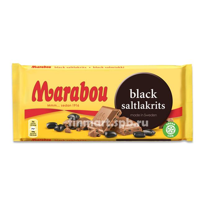 Молочный шоколад Marabou Black (с соленой лакрицей) - 200 гр.