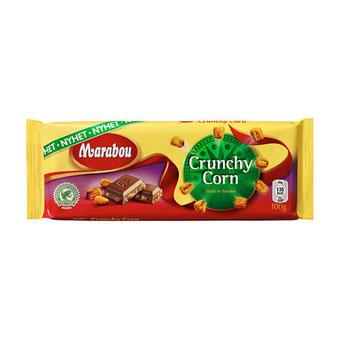 Молочный шоколад Marabou Crunchy Corn (Марабу с кусочками слабосоленой жареной кукурузы) - 200 гр.