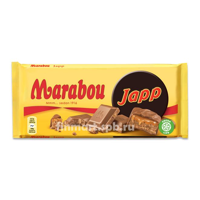 Молочный шоколад Marabou Japp (с карамелью) - 200 гр.