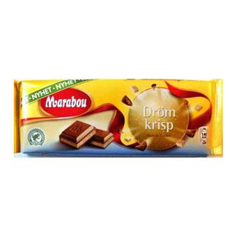 Молочный шоколад Marabou Drom krisp (Марабу с чипсами и солью) - 200 гр.
