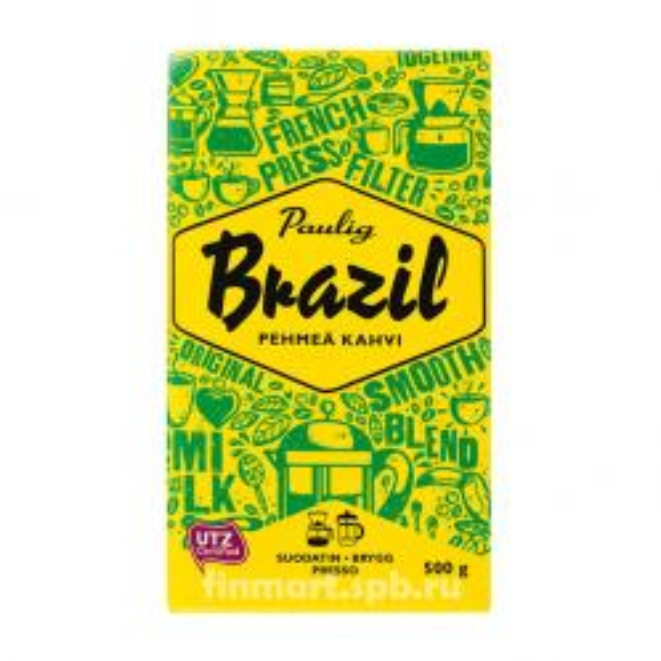Кофе молотый Paulig Brazil Kahvi - 500 гр.