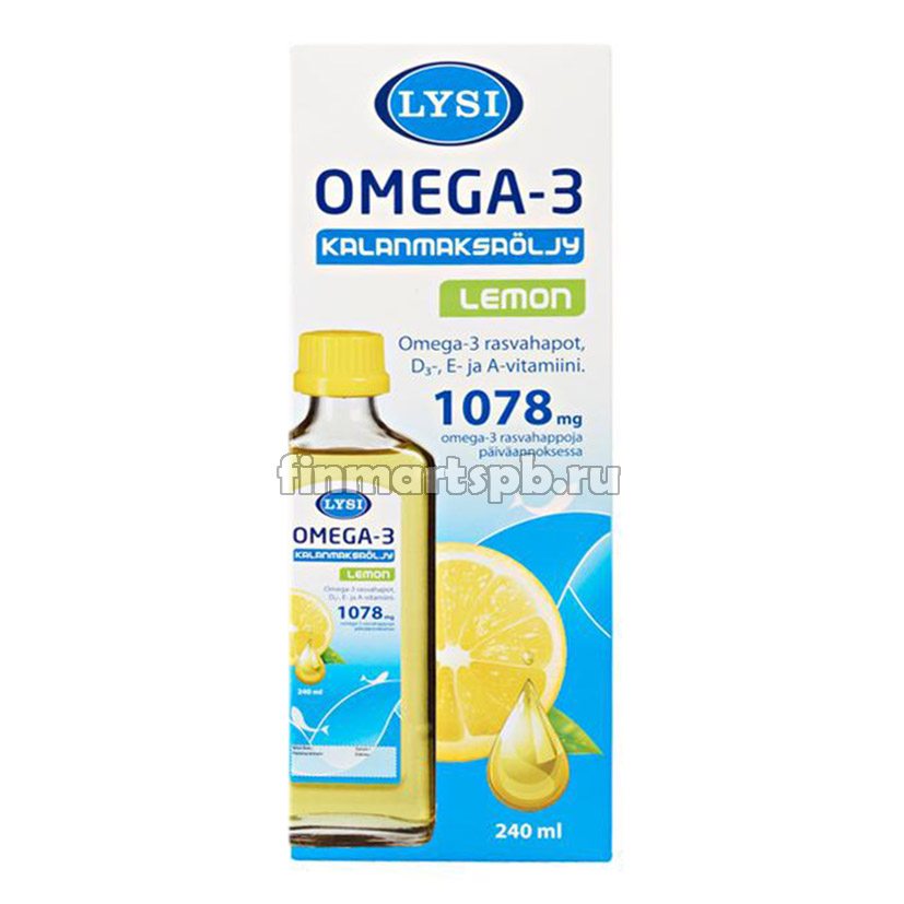 Рыбий жир Lysi Omega 3 1078mg Lemon
