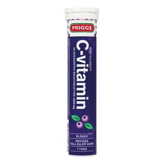 Шипучие быстрорастворимые витамины Friggs Vitamin-C (вкус черника) - 20 шт.