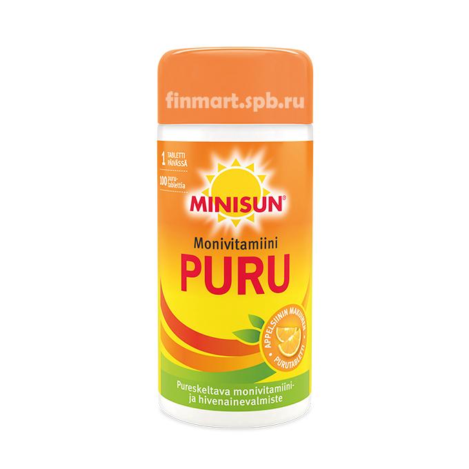 Поливитамины Minisun Multivitamin PURU - 100 шт.