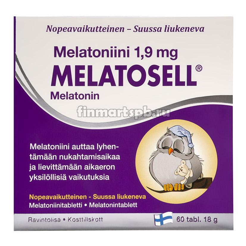 Витамины для улучшения сна Melatosell mellatonin 1,9 mg