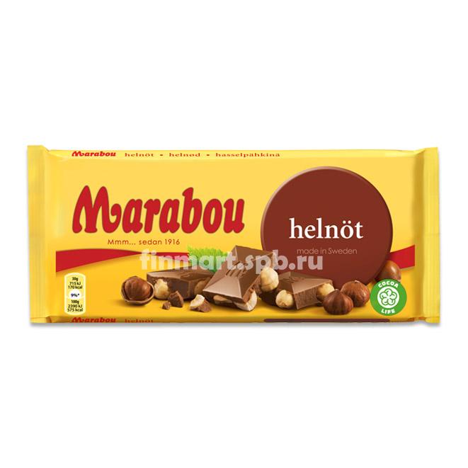 Молочный шоколад Marabou helnot (c фундуком) - 200 гр.