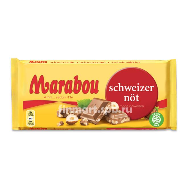 Молочный шоколад Marabou (c дробленым фундуком) - 200 гр.