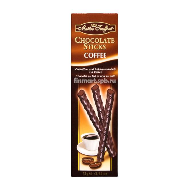 Шоколадные палочки с кофейной начинкой Maitre Truffout  - 75 гр.