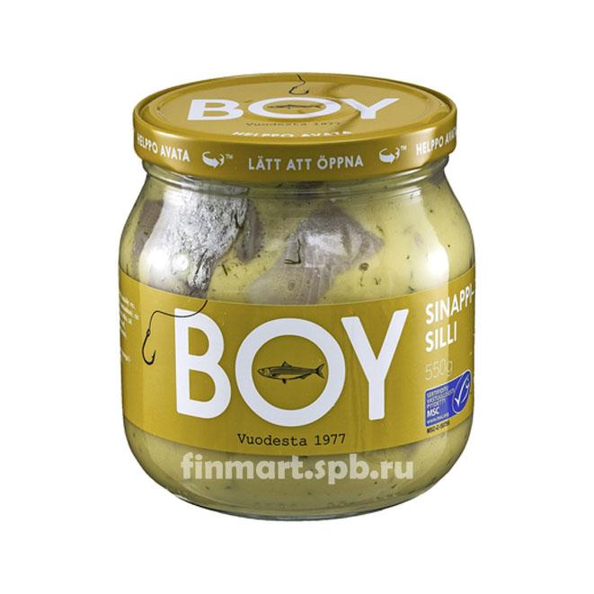 Селедка BOY Sinapisilli (в горчичном соусе) - 580 гр.