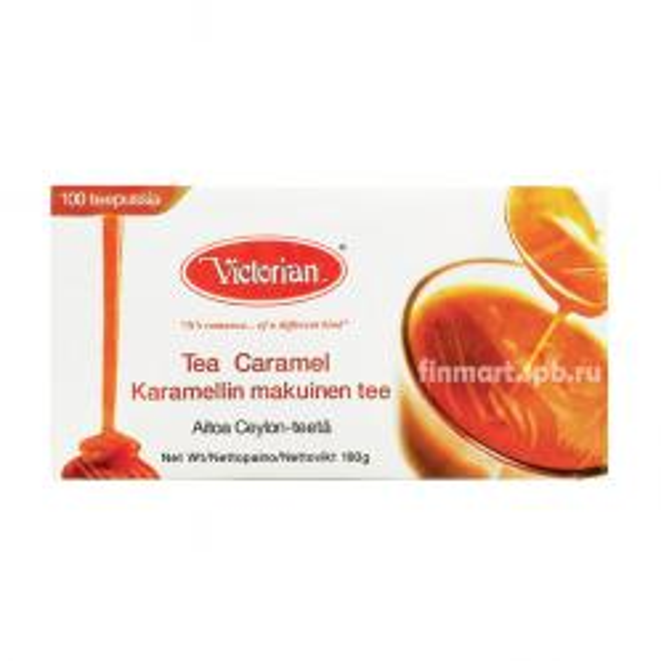 Чёрный чай Victorian Caramel (Карамель) - 100 пак.