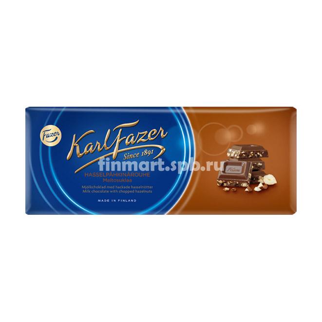 Молочный шоколад Karl Fazer (с фундуком) - 200 гр.