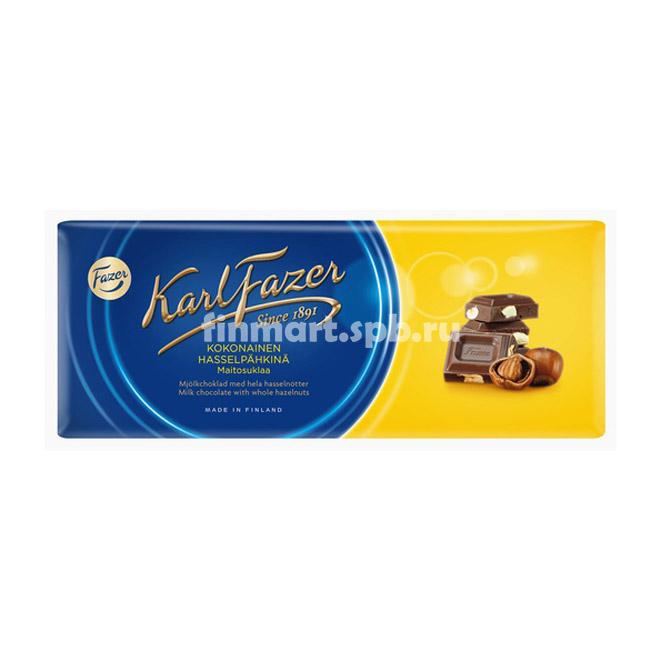 Молочный шоколад Karl Fazer kokonainen - 200 гр.