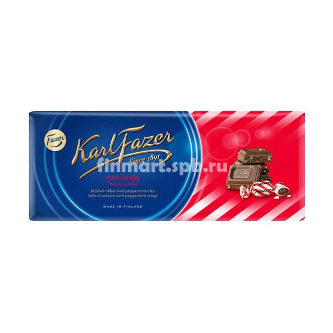 Молочный шоколад Karl Fazer Marianne (с мятой) - 200 гр.