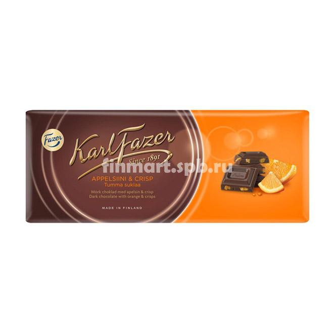 Молочный шоколад Karl Fazer Salty Popcorn (солёный попкорн) - 200 гр.