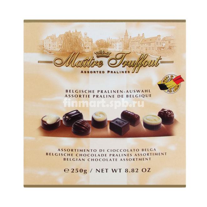Шоколадные конфеты ассорти Maitre Truffout - 250 гр.