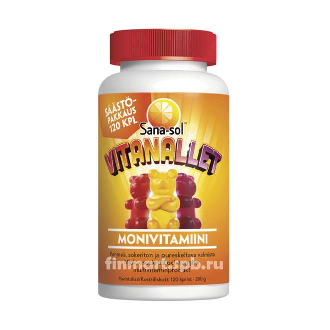 Витамины Sana-sol Vitanallet (Сана-сол жевательные мишки) - 120 шт.