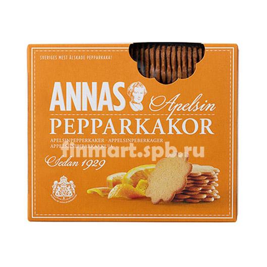 Печенье апельсиновое ANNAS apelsin pepparkakor - 300 гр.