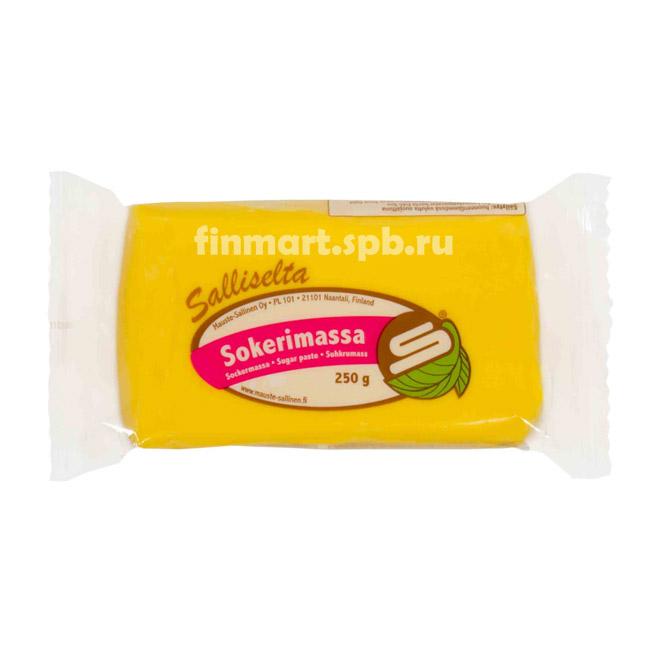Сахарная мастика Salliselta sokerimassa (жёлтая) - 250 гр.