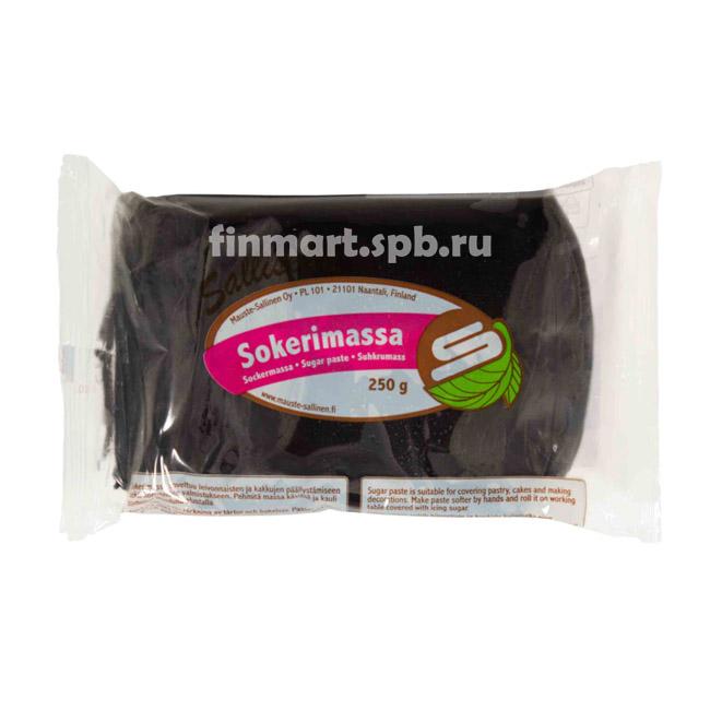 Сахарная мастика Salliselta sokerimassa (чёрная) - 250 гр.