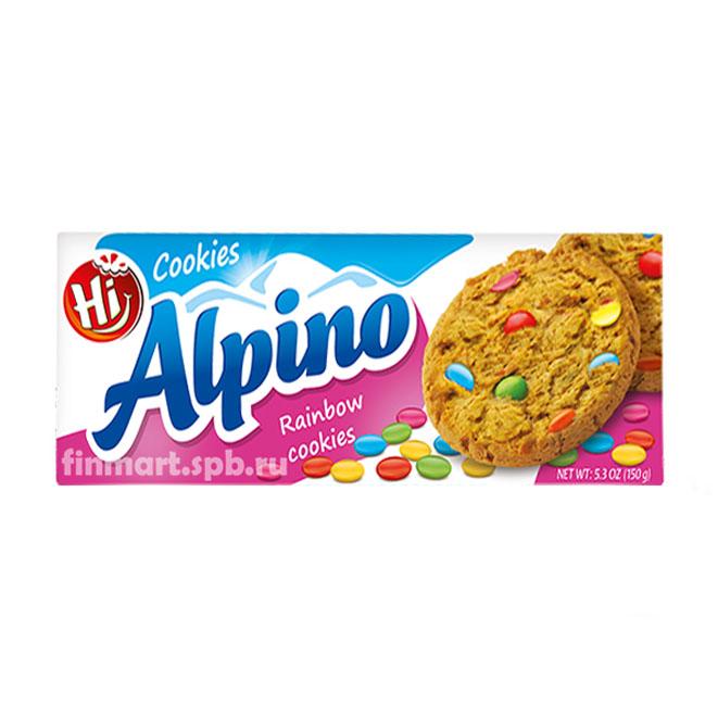 Печенье овсяное Alpino Rainbow cookies  - 150 гр.