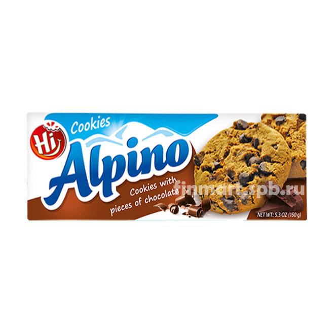 Печенье овсяное Alpino cookies (с кусочками шоколада) - 150 гр.