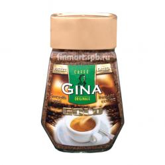 Растворимый кофе Gina Gold (стекло) - 200 гр.