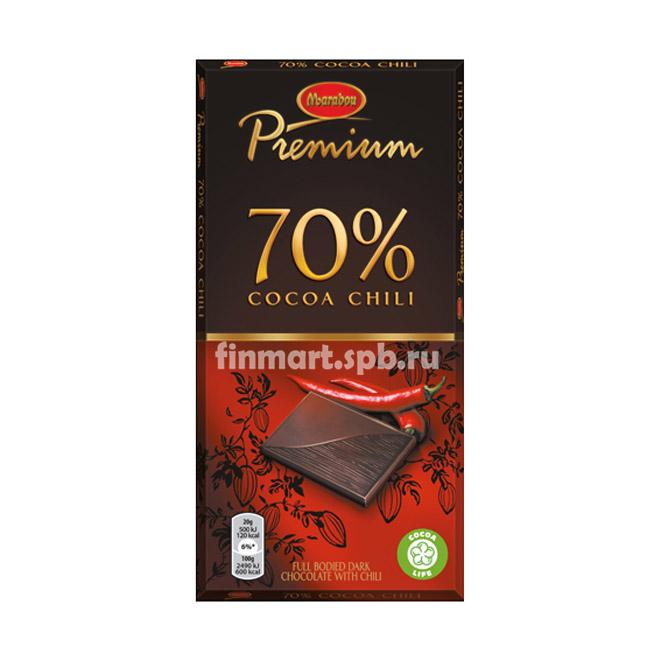 Тёмный шоколад Marabou Premium 70% cocoa chili - 100 гр.