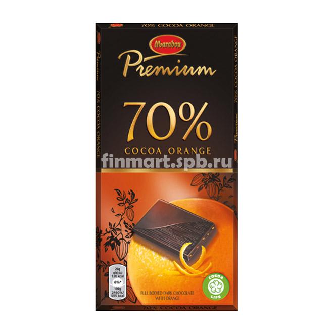 Тёмный шоколад Marabou Premium 70% cocoa orange - 100 гр.