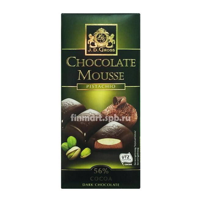Тёмный шоколад J.D.Gross Chocolate Mousse pistachio - 182 гр.