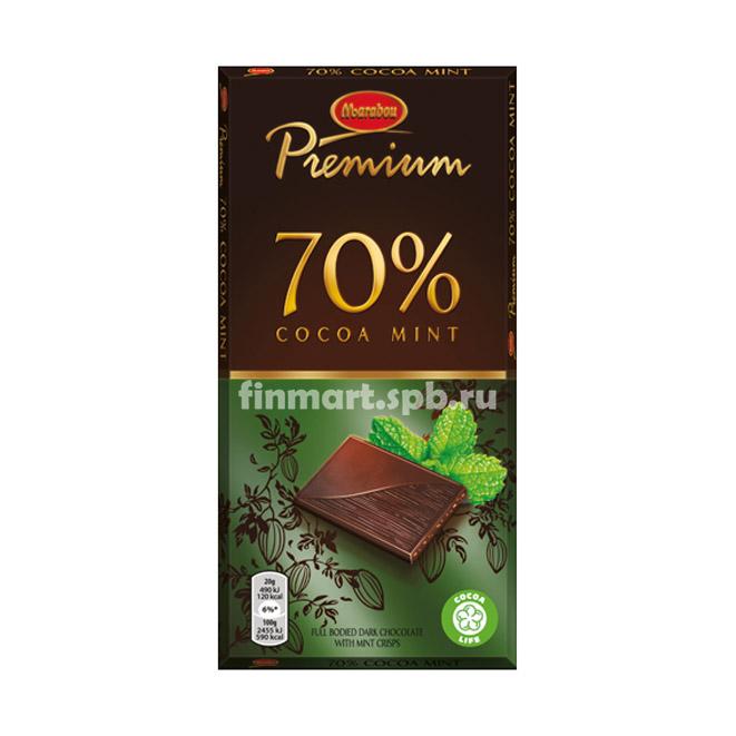 Тёмный шоколад Marabou Premium 70% cocoa mint - 100 гр.