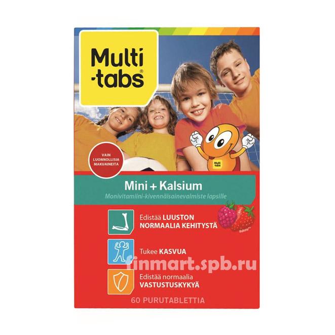 Витамины для детей MultiTabs Mini + Kalsium - 60 шт.