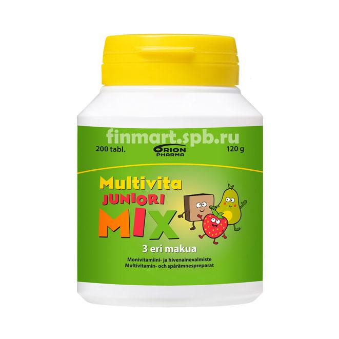 Мульти-витаминный комплекс Multivita Juniori Mix - 200 таб