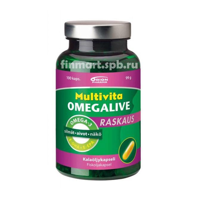 Витамины для беременных Multivita Omegalive Raskaus - 100 таб.
