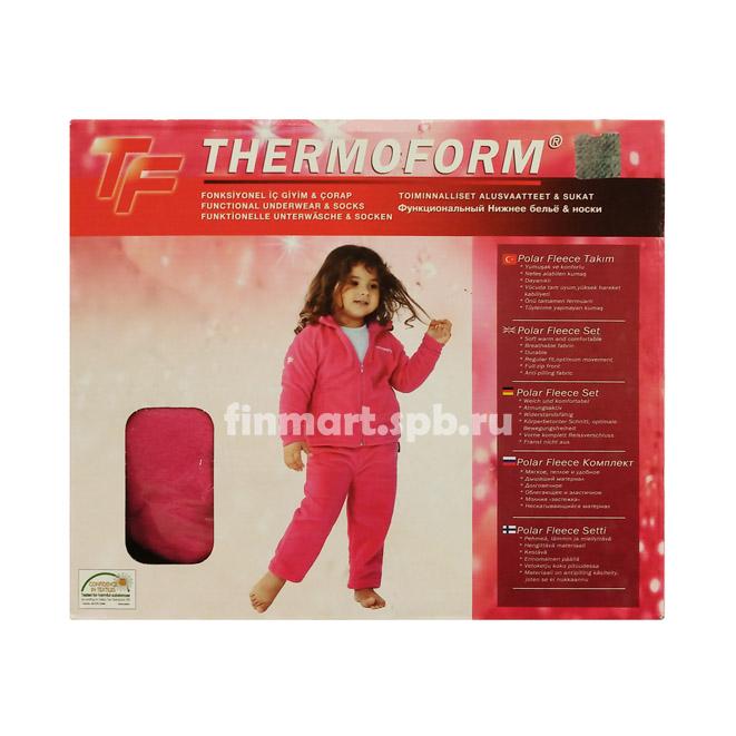 Флисовый костюм Thermoform Polar Fleece (для девочек)  цвет розовый.