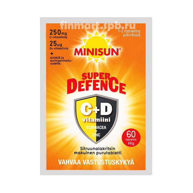 Витамины Minisun Super Defence C+D - 60 шт.