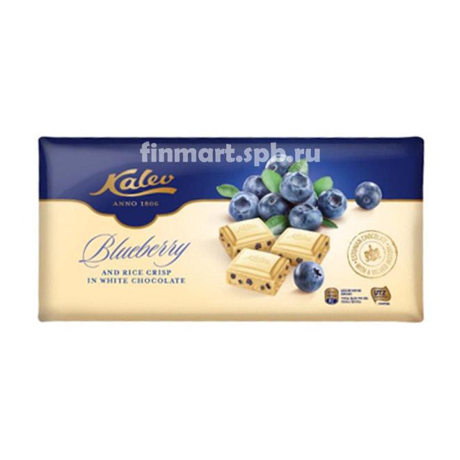 Белый шоколад Kalev Blueberry (с черникой) - 300 гр.