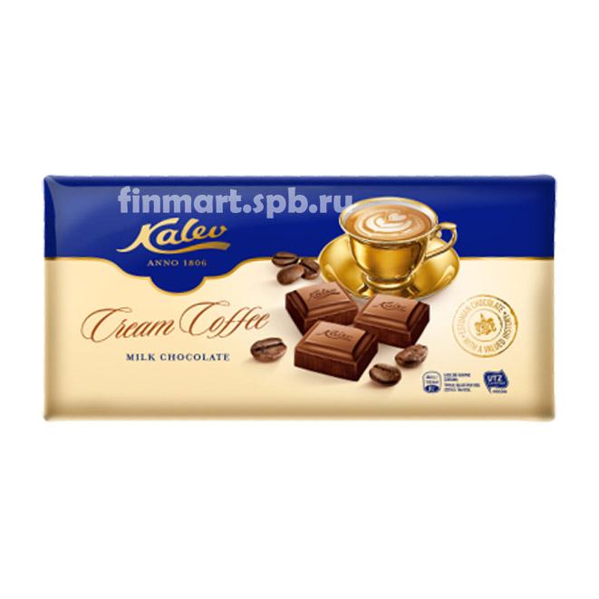 Молочный шоколад Kalev cream-coffee (с кофейным кремом) - 300 гр.