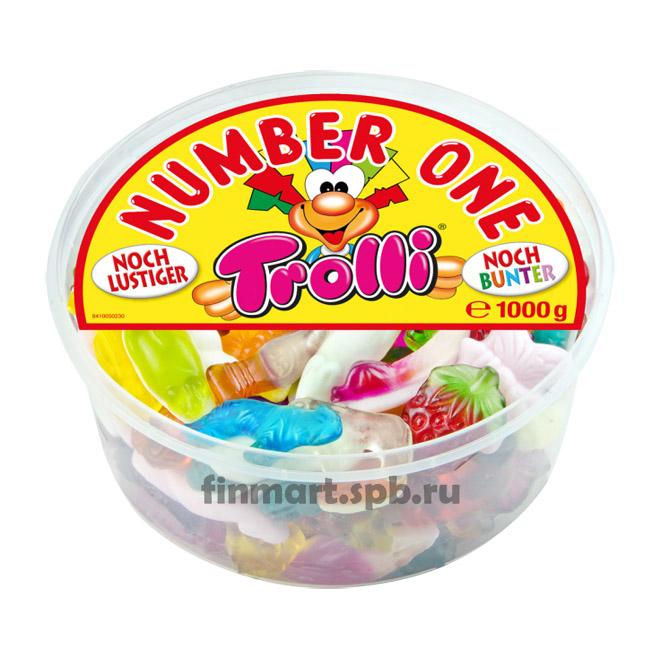 Жевательные конфеты Trolli number one - 1000 гр.