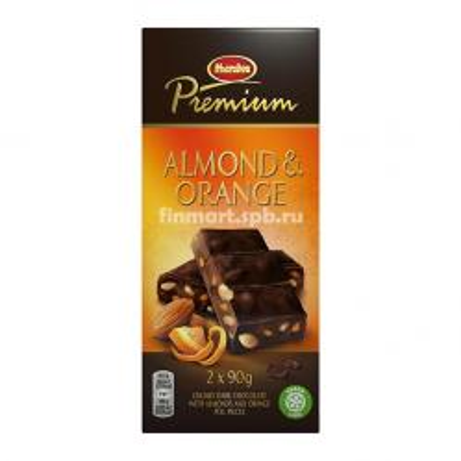 Тёмный шоколад Marabou Premium (миндаль, апельсин) - 2x90 гр.