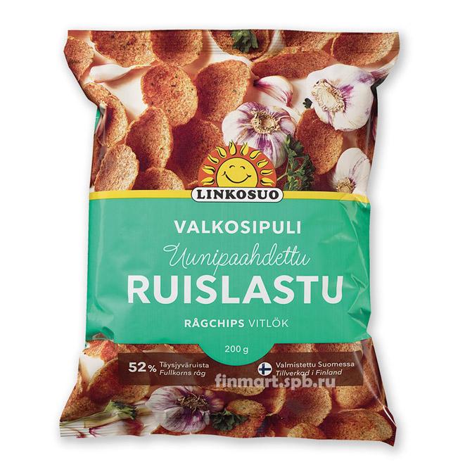 Хлебные чипсы Linkosuo Ruislastu (с вкусом чеснока) - 200 гр.