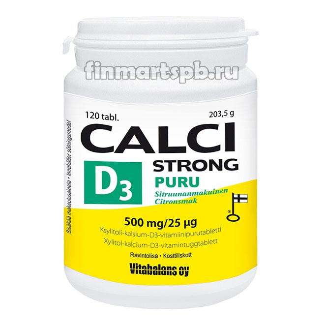 Витамины Calci Strong D3 puru (кальций + витамин D3)