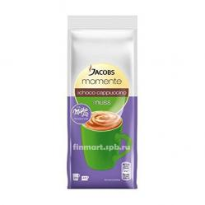 Кофейный напиток Jacobs Momente choco cappuccino nuss (капучино,орех) - 500 гр.