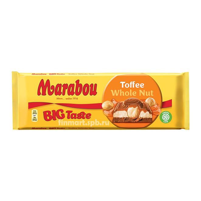 Молочный шоколад Marabou Toffee Whole Nut - 300 гр.