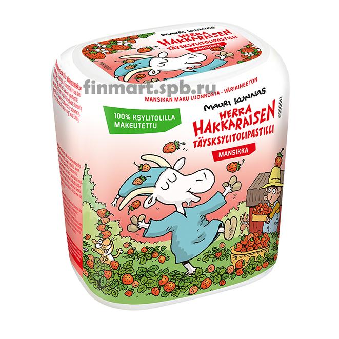 Конфеты с ксилитолом Jenkki Mansikka (вкус клубники) - 55 гр.