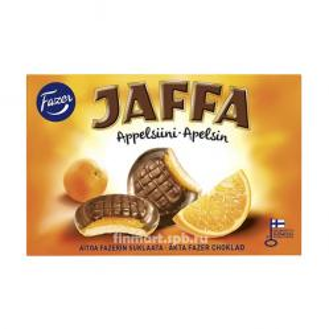 Печенье Fazer Jaffa (c апельсиновой начинкой) - 300 гр.