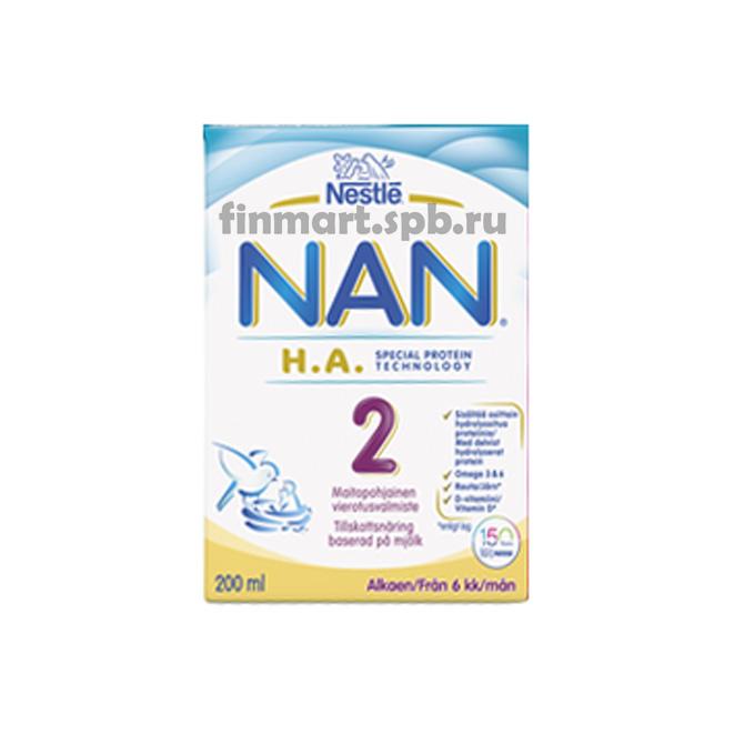 Детское питание Nestle NAN 2 H.A. (НАН 2 H.A. готовая смесь) - 200 мл.
