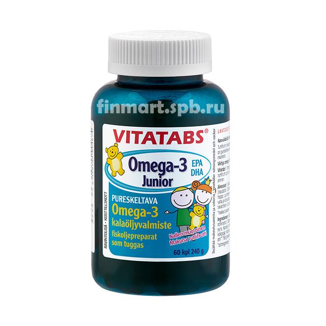 Жевательные мишки Vitatabs Omega-3 Junior - 60 шт.