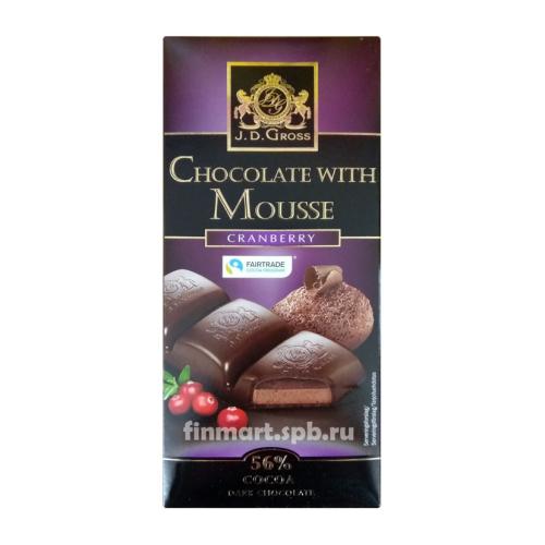 Тёмный шоколад J.D.Gross Chocolate with Mousse (cranberry) - 182 гр.