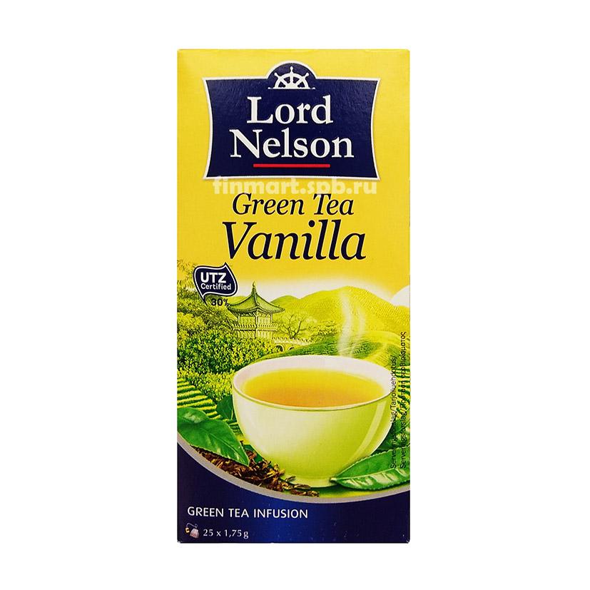 Зелёный чай в ванилью Lord Nelson Creen Tea Vanilla - 25 пак.